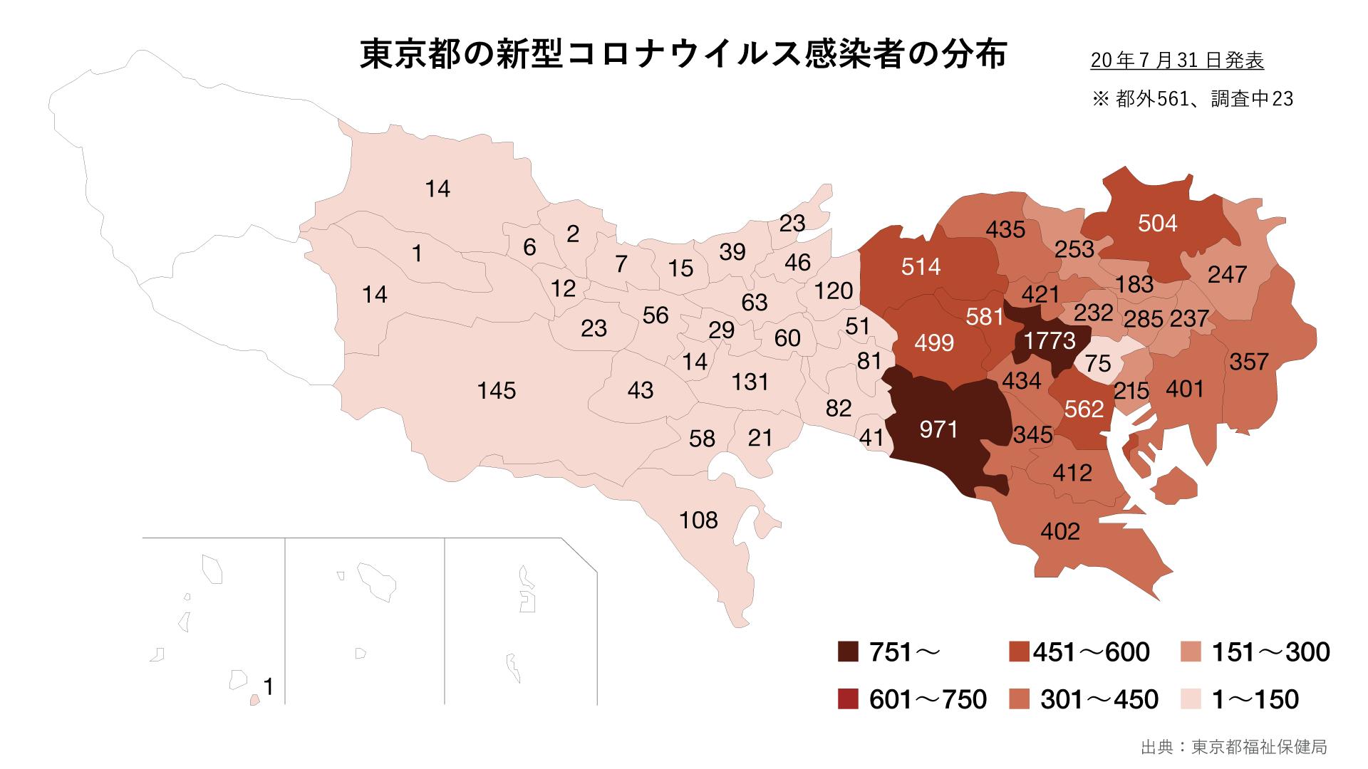 東京 都 自治体 別 コロナ 感染 者 数 東京都の公表情報(都内の区市町村別患者数等):新宿区